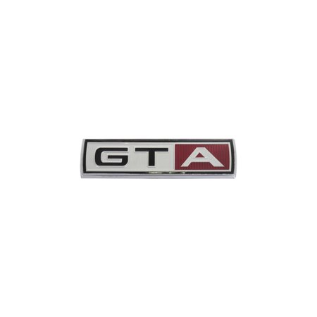 MACs Auto Parts Premier  Products 42-40532 Fender Nameplate - GTA - Complete Emblem With Chrome Base -390 V8 With C6 Automatic Transmission