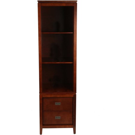 Rich Cherry Wood - Tenley Audio Pier / Bookcase, Wood, Rich Cherry