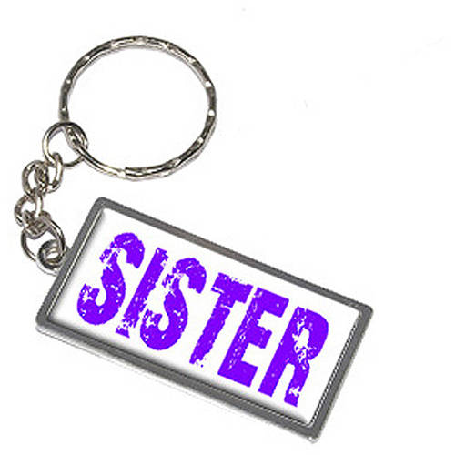 Sister Keychain Key Chain Ring