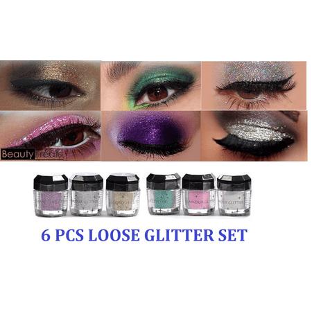 LWS LA Wholesale Store  6 Beauty Treats Cosmetics Eye shadow Color Makeup PRO GLITTER Eyeshadow PALETTE - Wholesale Makeup