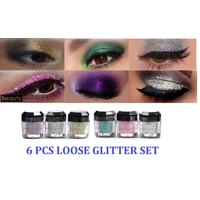 LWS LA Wholesale Store  6 Beauty Treats Cosmetics Eye shadow Color Makeup PRO GLITTER Eyeshadow PALETTE