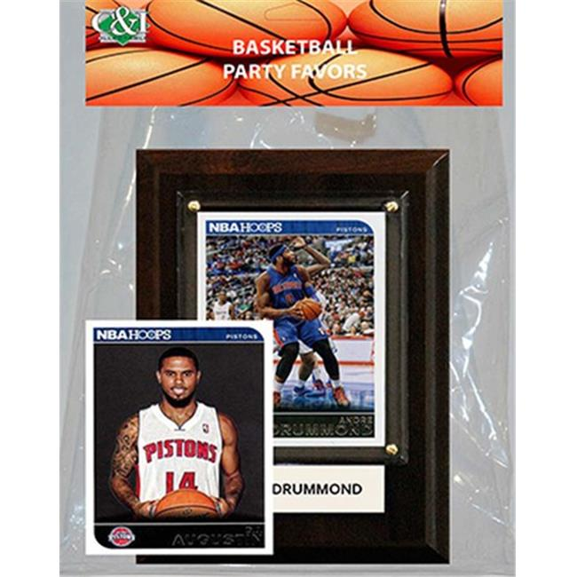 Candlcollectables 46LBPISTONS NBA Detroit Pistons Party Favor With 4 x 6 Plaque