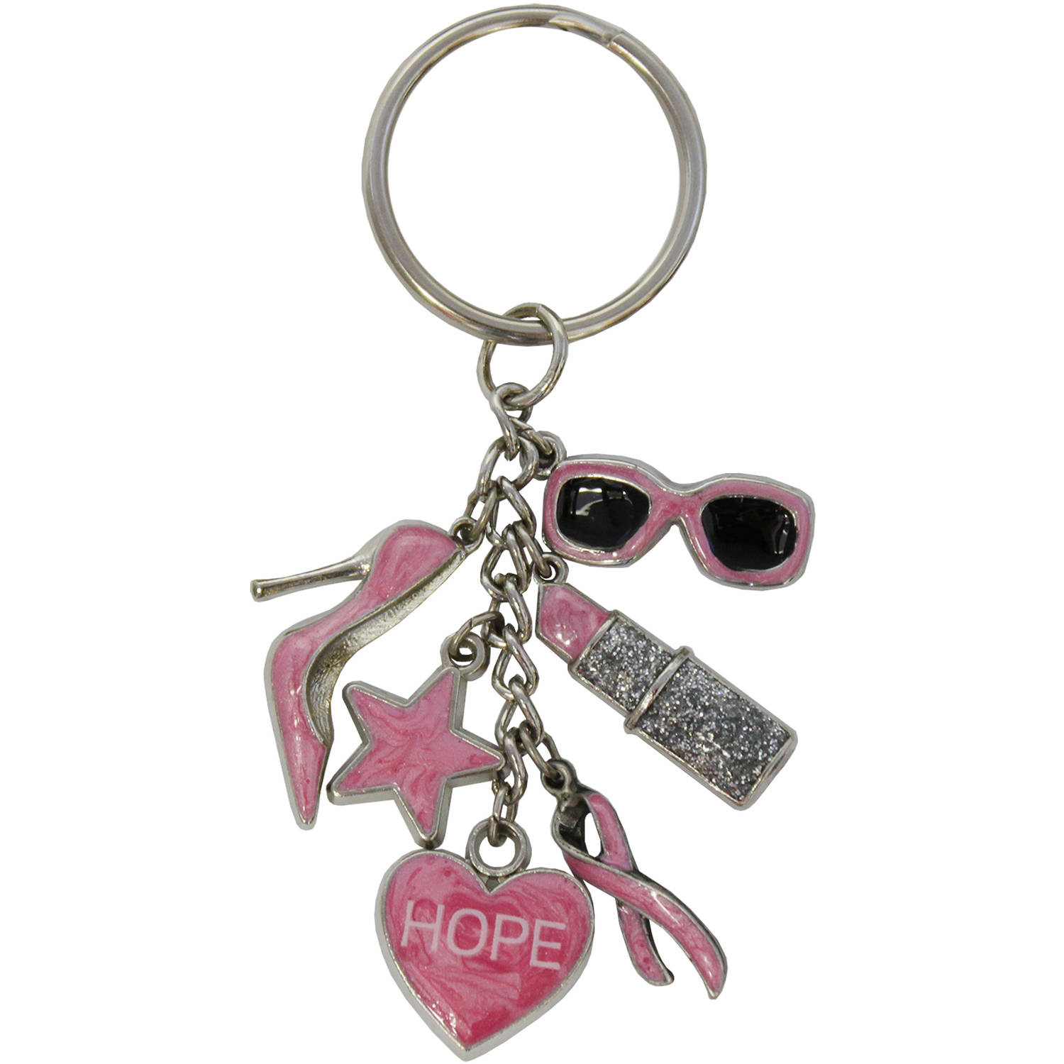 Gloria Duchin Breast Cancer Awareness Charms Keyring