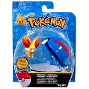 Pokemon TOMY Clip n Carry Pokeball Fennekin & Great Ball Figure Set