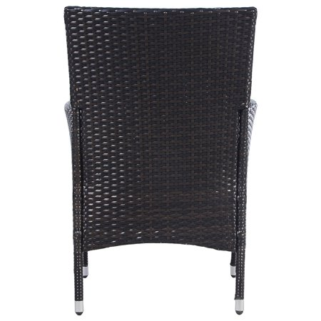 2PC Chairs Outdoor Patio Rattan Wicker Dining Arm Seat w/ Cushions - image 6 of 10