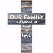 Wall Cross-Our Family-Mini Stick (5 x 7 x .75)