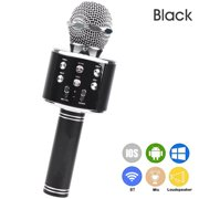 Lixada WS 858 Portable Wireless Karaoke Microphone Handheld Cellphone Karaoke Player Built in BT HIFI Speaker Selfie 3 in 1 Rechargeable Li battery Karaoke KTV MIC Machine