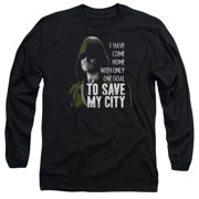 Arrow Save My City Mens Long Sleeve Shirt