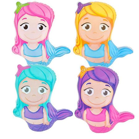 "24"" Little Mermaid Mylar Balloons- Pack of 6 Under-the-Sea Character Inflatables- Ariel Party Decorations, Nautical and Beach Parties, Princess Table Centerpieces and Chair Accents - Beach Centerpieces"