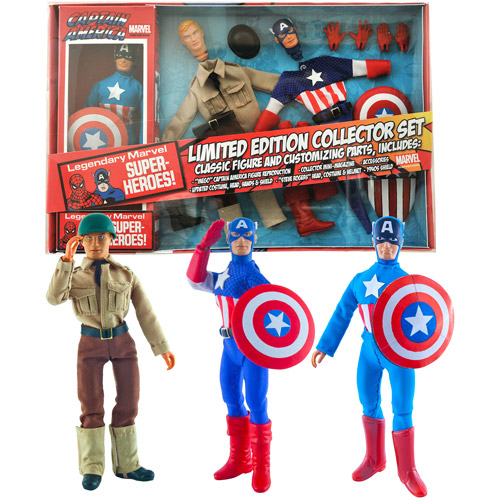 "Diamond Select Toys Marvel Limited Edition Captain America 8"" Retro Action Figure Set SEP142256"