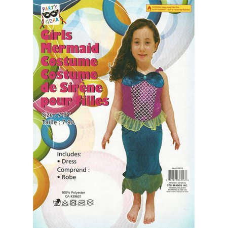 Halloween Girl's Mermaid Costume, suitable for 7-9 year - image 1 of 1