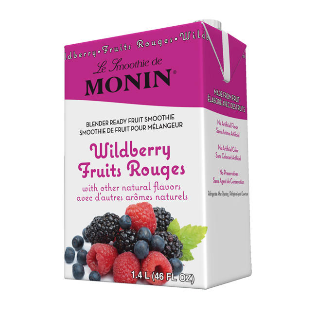 MONIN Wild Berry Fruit Smoothie Mix