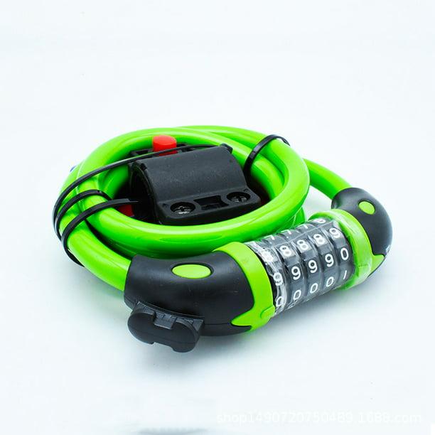 Bicycle Digit Code Lock MTB Bike Security Anti-theft Combination Lock Cable Lock
