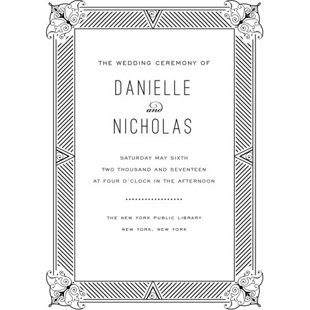 Elegant Border Standard Program Card - Fan Wedding Programs