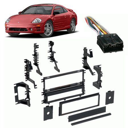 - Fits Mitsubishi Eclipse 95-05 Single DIN Harness Radio Install Dash Kit