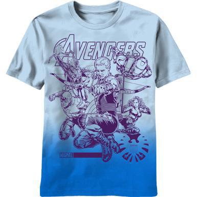 Marvel Avengers Team Up Impakted-M T-Shirt for $<!---->