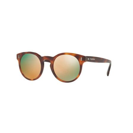 fc9d7d6d380e1 Valentino Sunglasses VA4009 5011/4Z Havana Frames Gray Mirror Lens 47MM