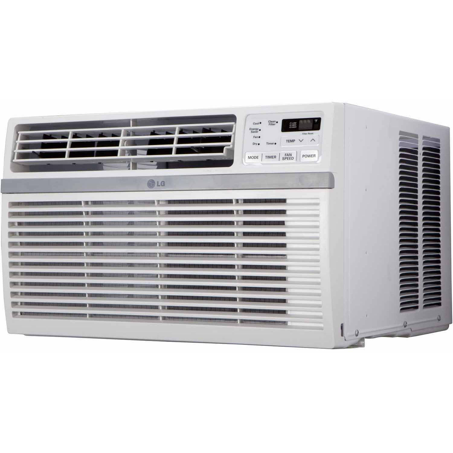 LG Electronics LW8015ER Energy Efficient 8,000-BTU 115V Window-Mounted Air Conditioner with Remote Control