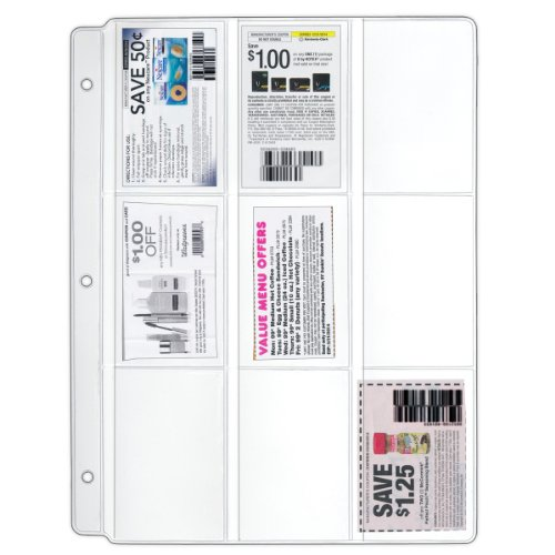 StoreSmart Coupon Binder Pages 25 Pack - Clear Vinyl Plas...