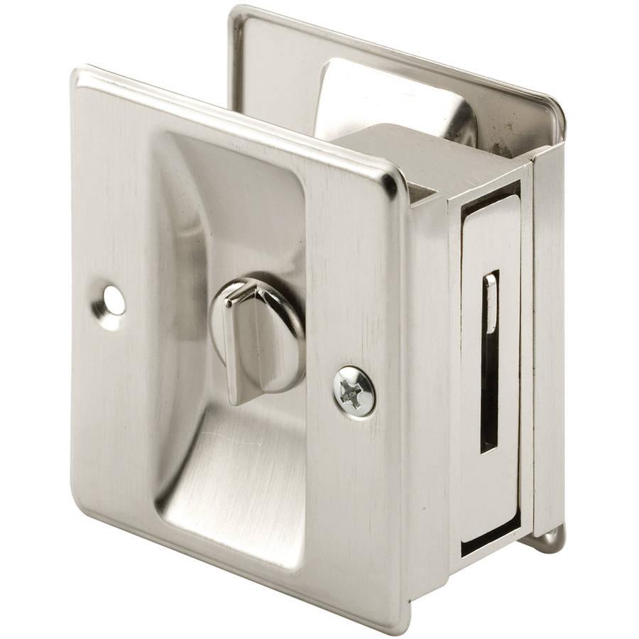 Prime Line Products N7239 Lock Pocket Door Satin Nickel