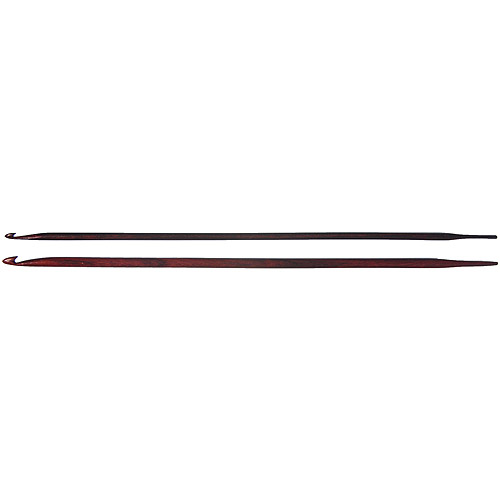 """Lacis Knooking Needles, 8"""", 2-Pack, E and F, Rosewood"""