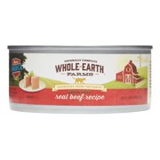 Whole Earth Farms Grain-Free Real Beef Recipe Pate Wet Cat Food, 5 Oz