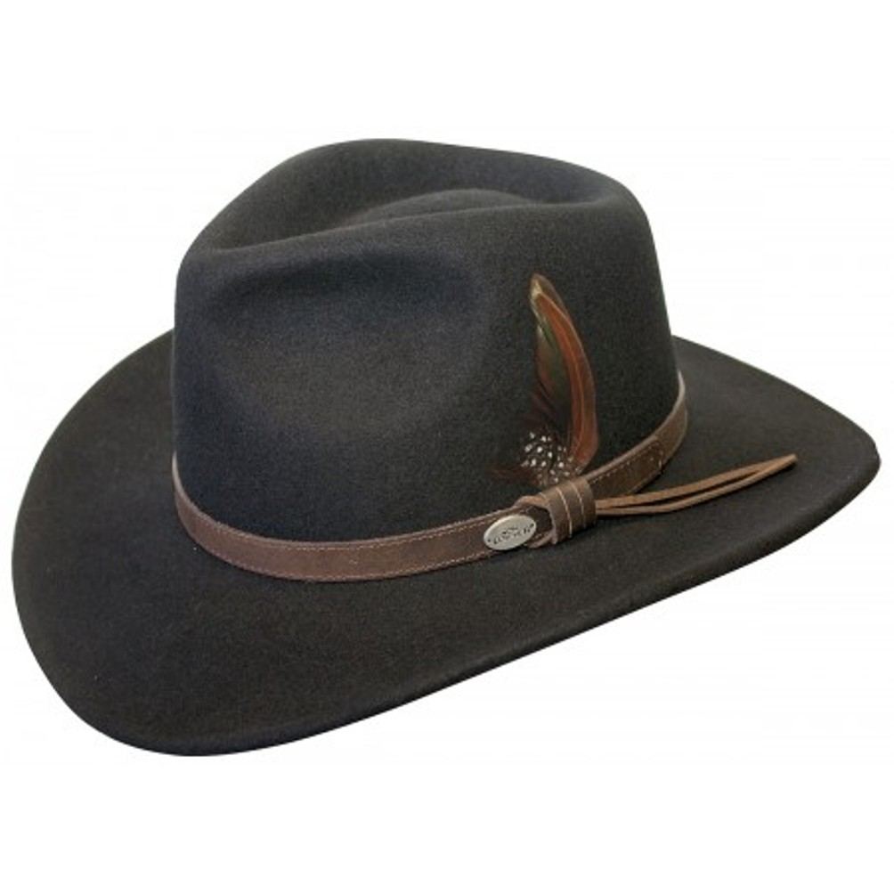 5900eea8b2f Conner Hats - Conner Hats Men s Aussie Wool Crusher Hat Black XL ...