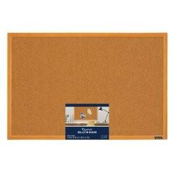 Quartet Cork Bulletin Board 36 X 24 Oak Finish Frame Walmart Com
