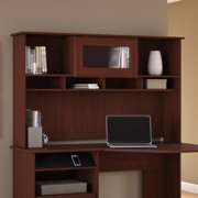 Bush Furniture Cabot Collection Hutch in Harvest Cherry