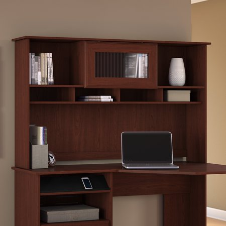 Bush Furniture Cabot Collection Hutch in Harvest -