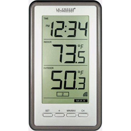 Habitat Thermometer - La Crosse Technology WS-9160U-IT Digital Thermometer with Indoor/Outdoor Temperature