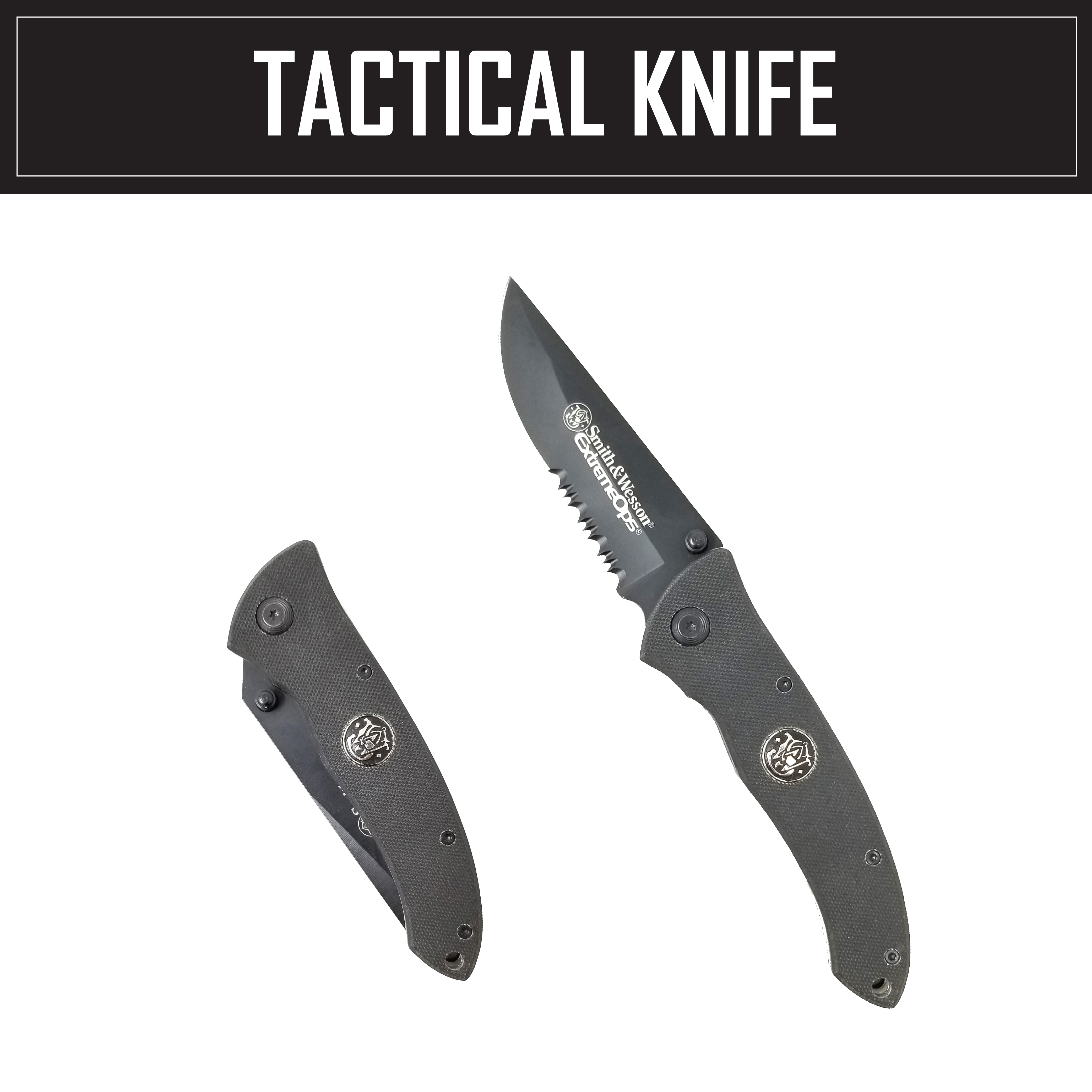 Black Stylish Slick Foldable Tactical Heavy Duty Stealth Knife with Pocket Clip