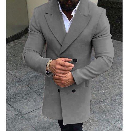 Luiryare Men S Trench Coat Double, Fashion Brand Pea Coat