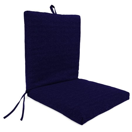 Mainstays Solid Navy 1 Piece Outdoor Dining Chair - 1 Outdoor Chair Cushions