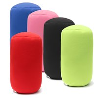 Micro Bead Roll Pillow Portable Neck Back Head Cushion Soft Relief Chair Pad For Home Office Car