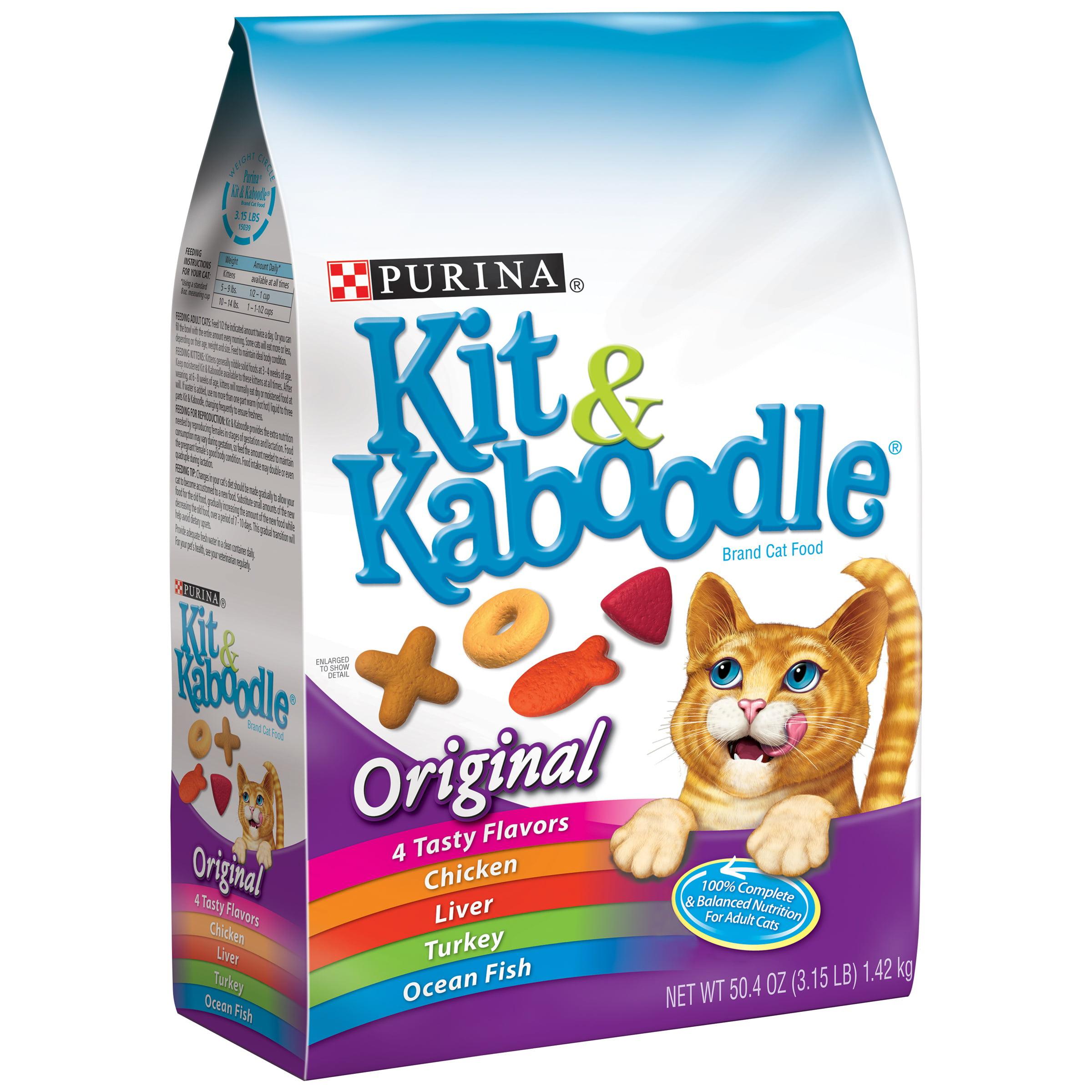 Purina Kit & Kaboodle Original Dry Cat Food, 3.15 lb - Walmart.com