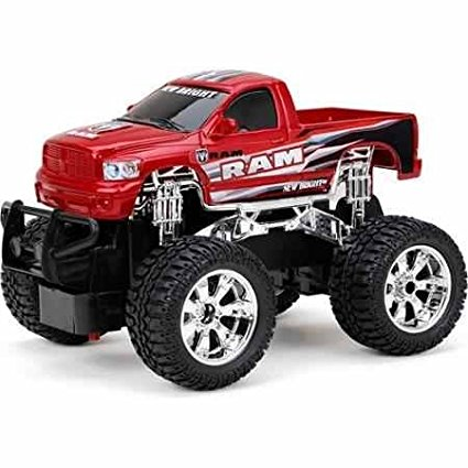 1:24 Radio Control Full-Function Ram, Red, Full Function Left, Right, Reverse and Drive By New Bright Ship from US