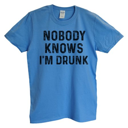 "dece68771 Funny Threadz - Funny Drinking Mens T-shirt ""Nobody Knows I'm Drunk"" Great  Funny Party T Shirt X-Large, North Carolina Blue - Walmart.com"
