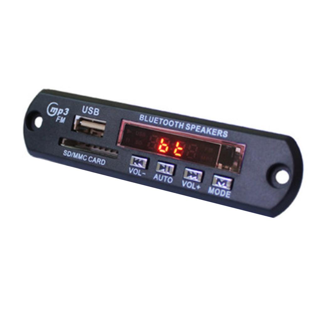 Bluetooth Wireless MP3 Player Decoder Board Audio Module USB TF Radio Red Digital LED Remote Controller