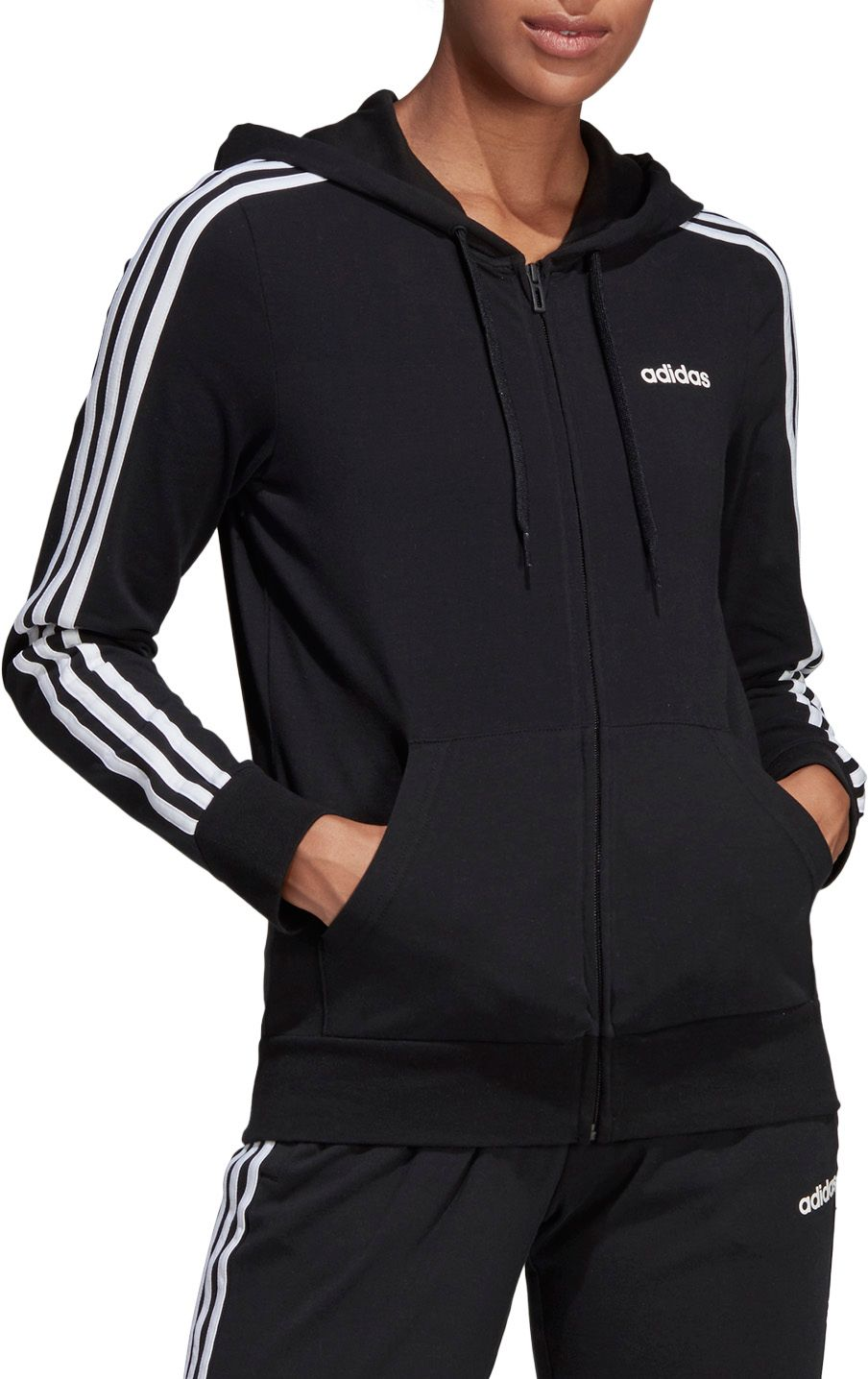 Variety Adidas Boy/'s French Terry 3 Stripe Jacket