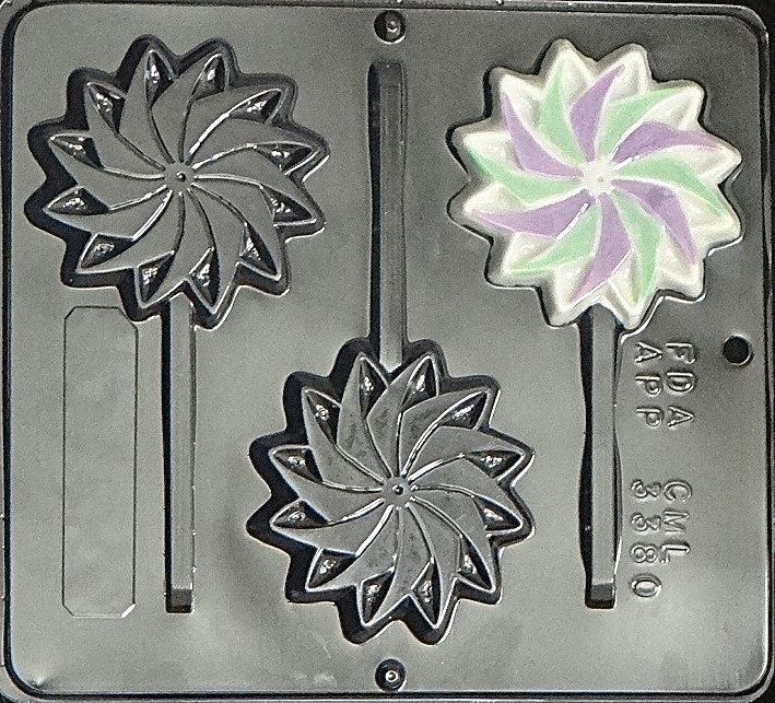 3380 Pinwheel Lollipop Chocolate Candy Mold