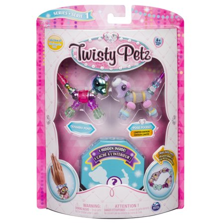 Twisty Petz - 3-Pack - Sunshiny Pony, Posie Poodle and Surprise Collectible Bracelet Set for Kids