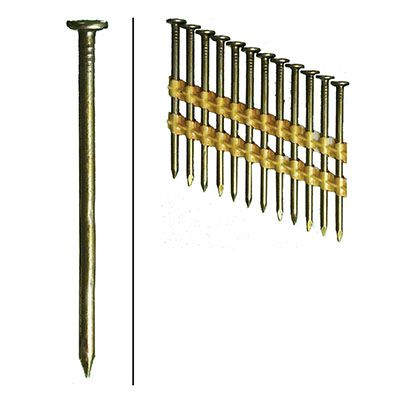 Hillman Fasteners 461740 Framing Nails, Plastic Strip, Smooth, Brite, 3-In. x .131, 4,000-Ct.