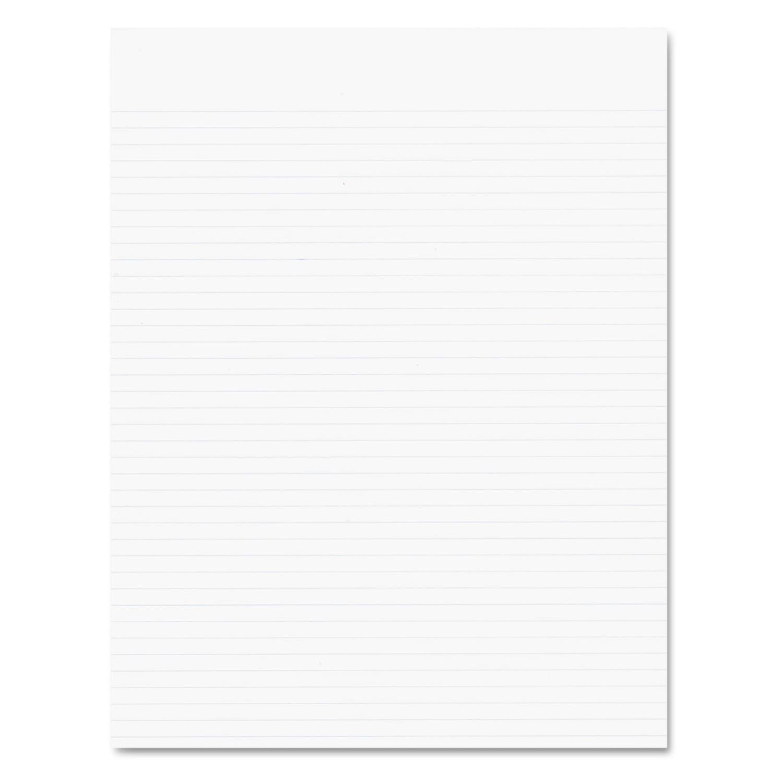 Ampad Glue Top Pads, Narrow Rule, 8 1/2 x 11, White, 50 Sheets, Dozen