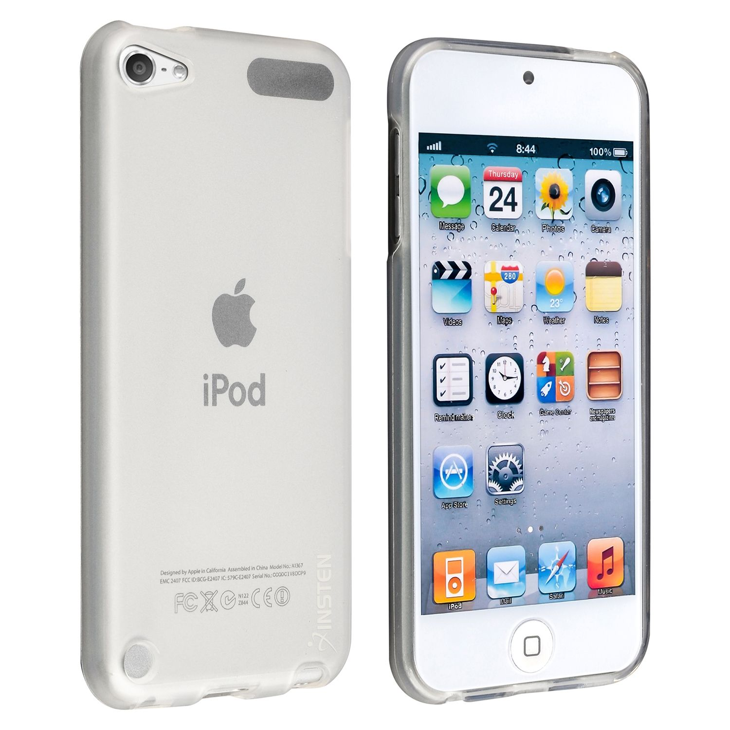 Apple iPod touch 6 6th 5 5th Gen TPU Rubber Skin Case by Insten, Frost Clear White