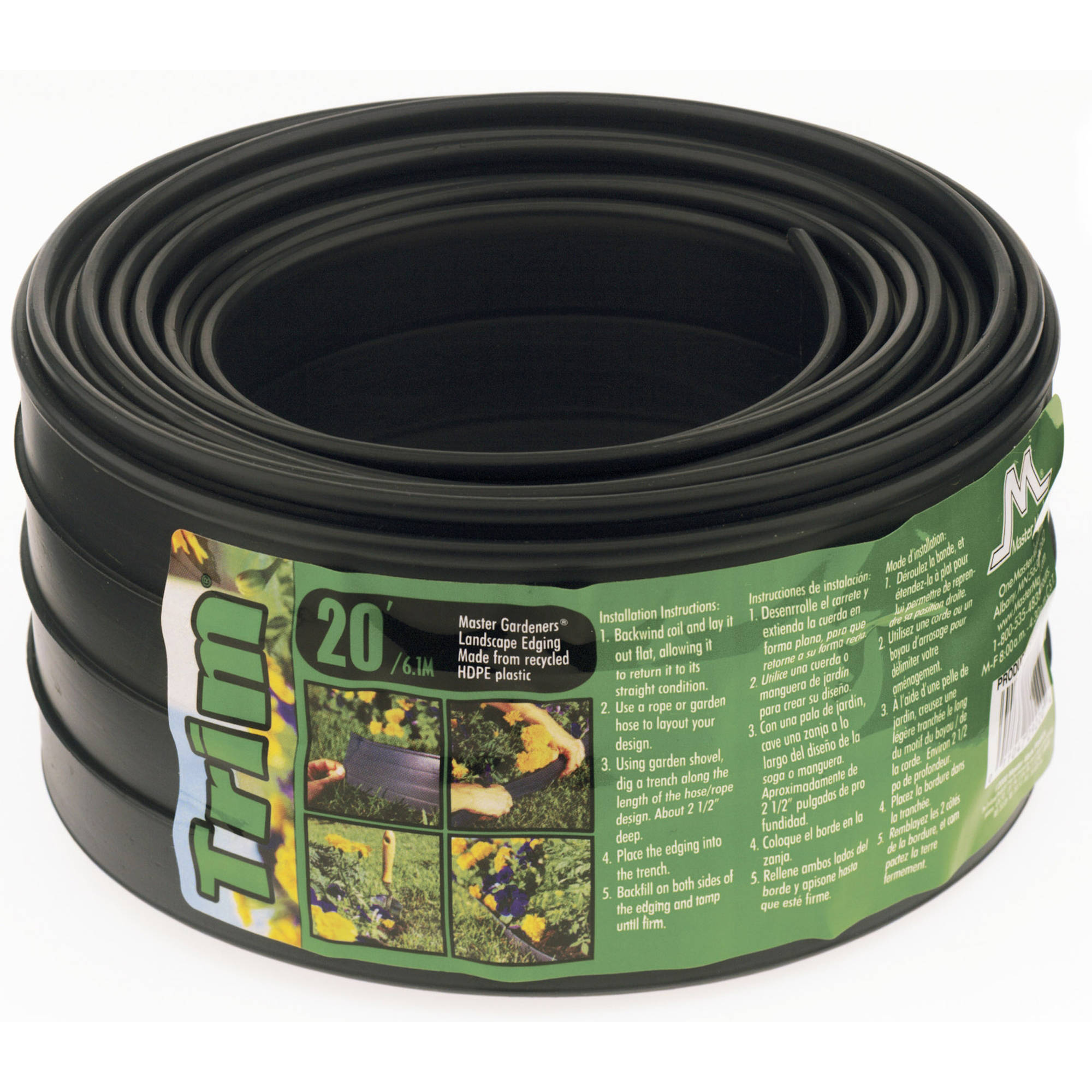 Master Mark Plastics 29220 20' The Trim Landscape Edging