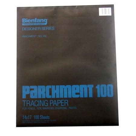 SPEEDBALL ART PRODUCTS 240242 BIENFANG 100 PARCHMENT TRACING PAD 24LB 100SH (14x17 100 Sheets)