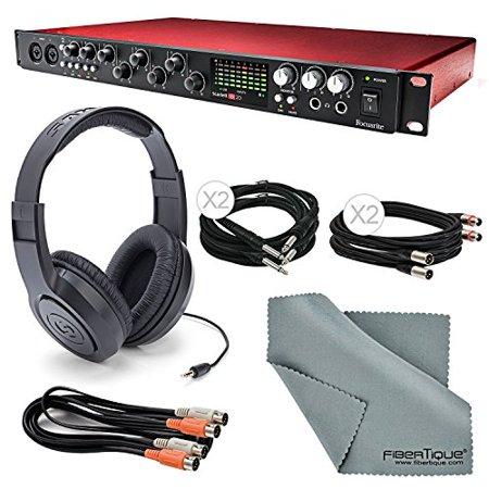 focusrite scarlett 18i20 usb 2 0 audio interface w basic bundle cables samson stereo. Black Bedroom Furniture Sets. Home Design Ideas