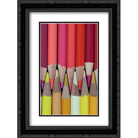 - Colored Pencils IV 2x Matted 18x24 Black Ornate Framed Art Print by Mahan, Kathy