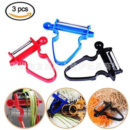 Bosch Universal Slicer Shredder (3PCS Kitchen Staninless Steel Peeler Set Trio Peeler Slicer Shredder julienne Fruit Cutter)